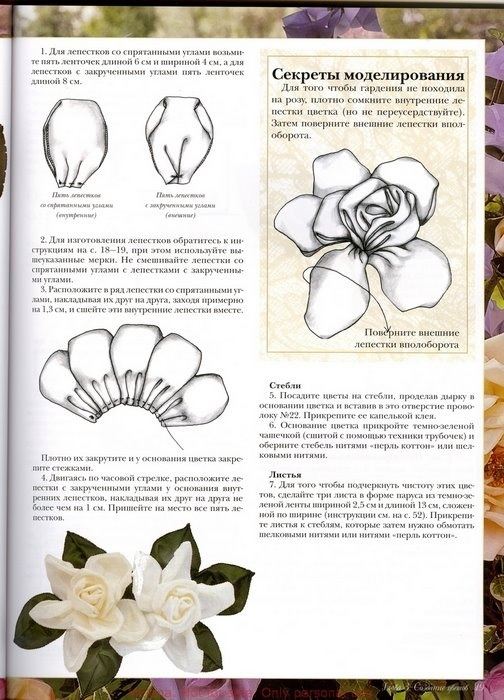 Рукоделие изготовление цветов