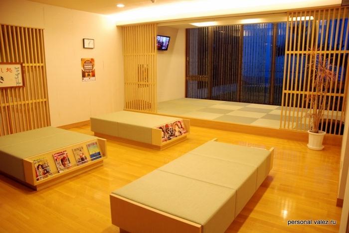 Место для отдыха после купания, неприменно используется японцами, часто тут спят