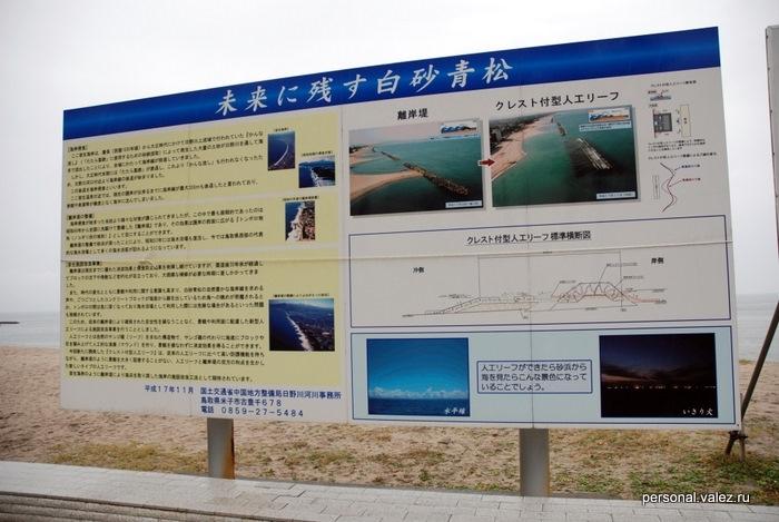 Часто встречаются описания различных конструкций, в данном случае - волнореза, который здесь вдоль, а не поперек берега и защищает отели при шторме