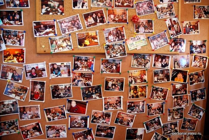 Фотографии посетителей ресторана, быть может какой-то конкурс на лучшую
