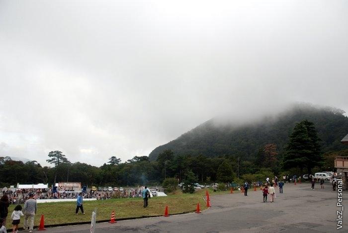 Гору Дайсэн мы не видели ни в тот день ни в предыдущий, верхушка была закрыта туманом