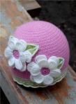 Вязаные цветы крючком на шапку.
