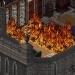 Пожар был такой силы, что зарево виднелось на много миль вокруг. Мистеру Рочестеру ничего не оставалось, кроме как переехать в замок Ферндин, стоящий в угрюмой лесной местности.