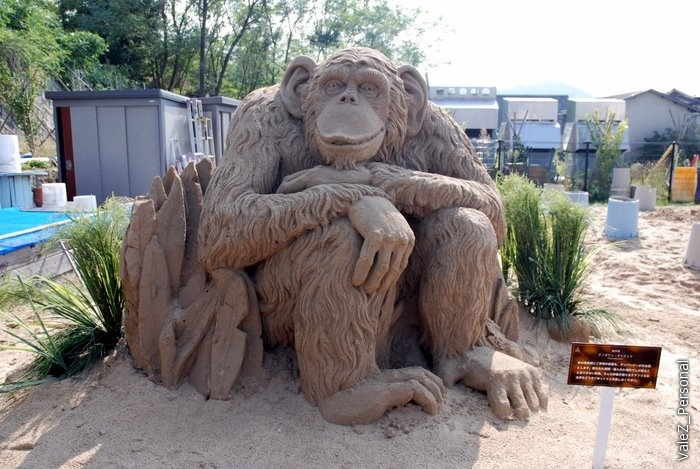 Начало выставки скульптур