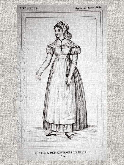 Послереволюционные французские моды конца 18 - начала 19 века распространил