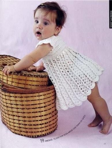 схема вязания для малышей крючком.