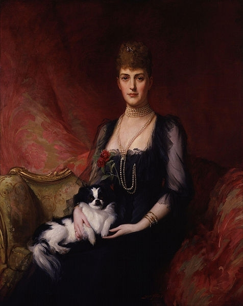 Alexandra of Denmark, by Sir (Samuel) Luke Fildes (died 1927), given to the National Portrait Gallery, London in 1920.