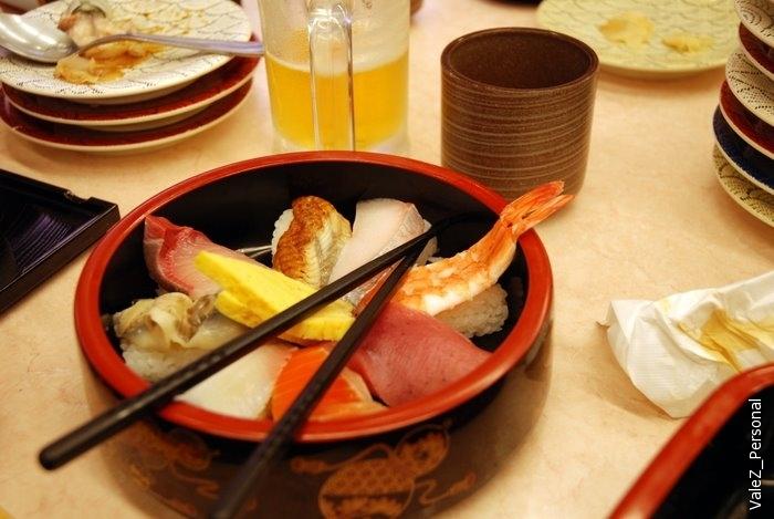 Сашими из морских существ - очень вкусно