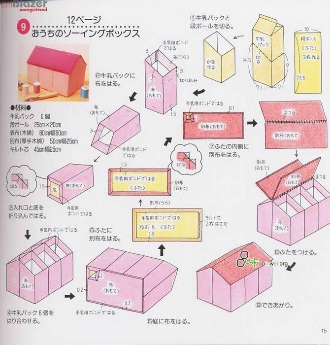 Шкатулка из пакетов от молока (тетрапаков) - Поделки