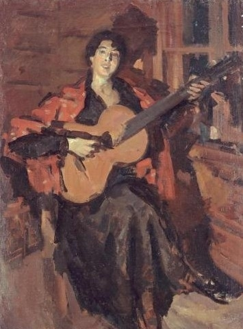 Korovin, Constantin (1861-1939) - Woman with Guitar (2)