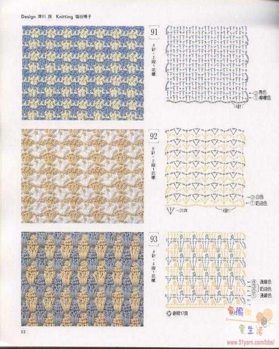 узоры и схемы вязания крючком.