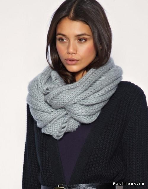 Вязание шарф хомут детям