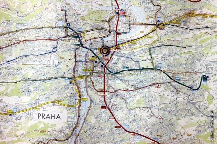 Линии пражского метрополитена
