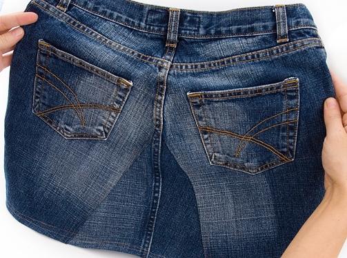 旧牛仔裤还能干什么?84:做牛仔裙 - maomao - 我随心动