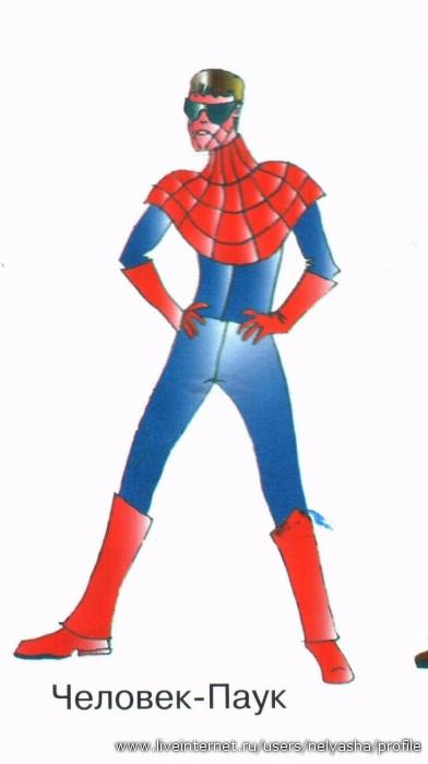 Как сшить костюм человека паука фото