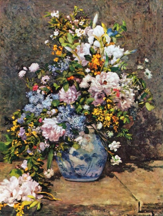 Bouquet of Spring Flowers 1866 by Pierre-Auguste Renoir