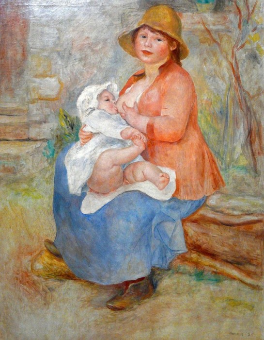 Mother Nursing her Child Date unknown by Pierre-Auguste Renoir