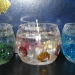 Три гелевых свечки со стеклянным декором