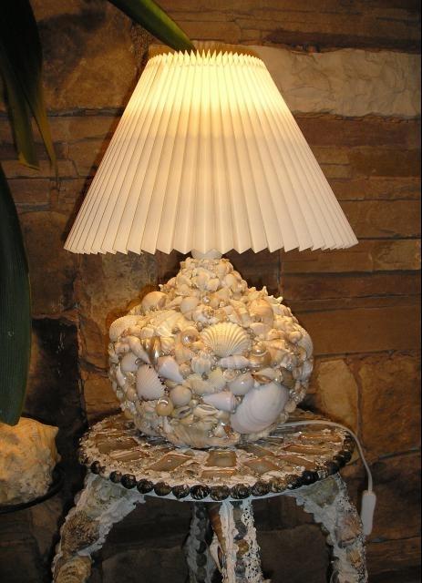 Лампа настольная с абажуром своими руками