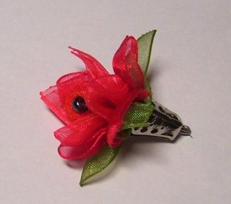 flowers for birthday: hair clips
