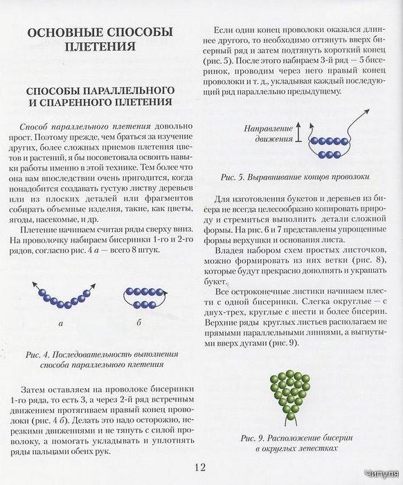 B Пошаговые инструкции плетения.