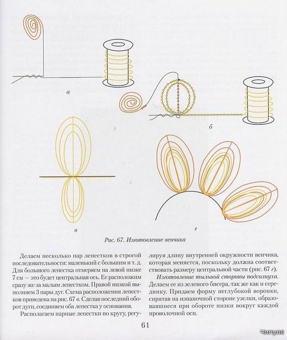 схема для вышивки бисером подсолнухи сб 112 - Сделай сам!