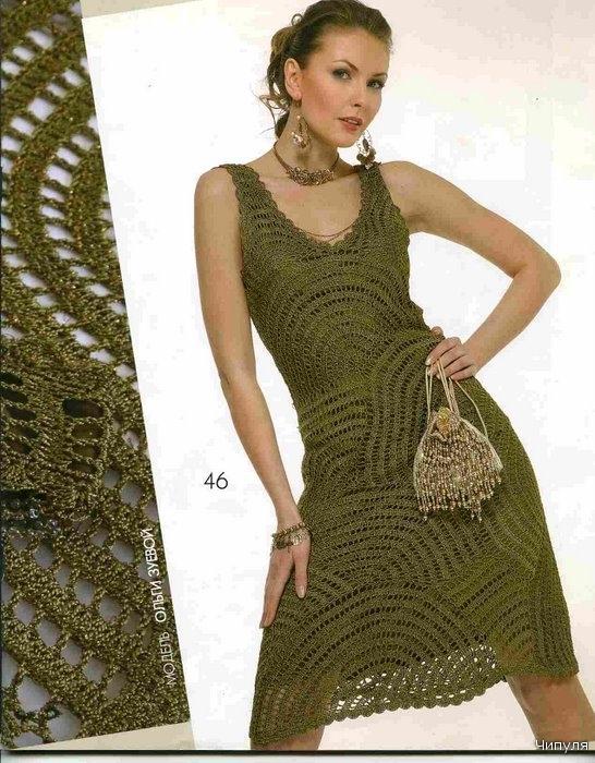 Платья юбки вязание схемы вязанные