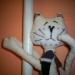 Котик - держатель для штор или украшение на трубу, бутылку и т.п