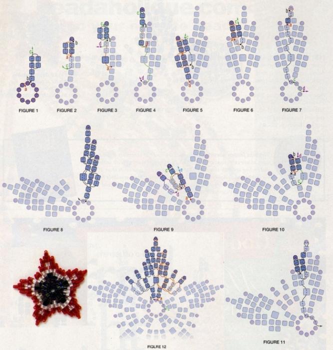 плетение из бисера со схемами легкие очень - Ппланета схем.