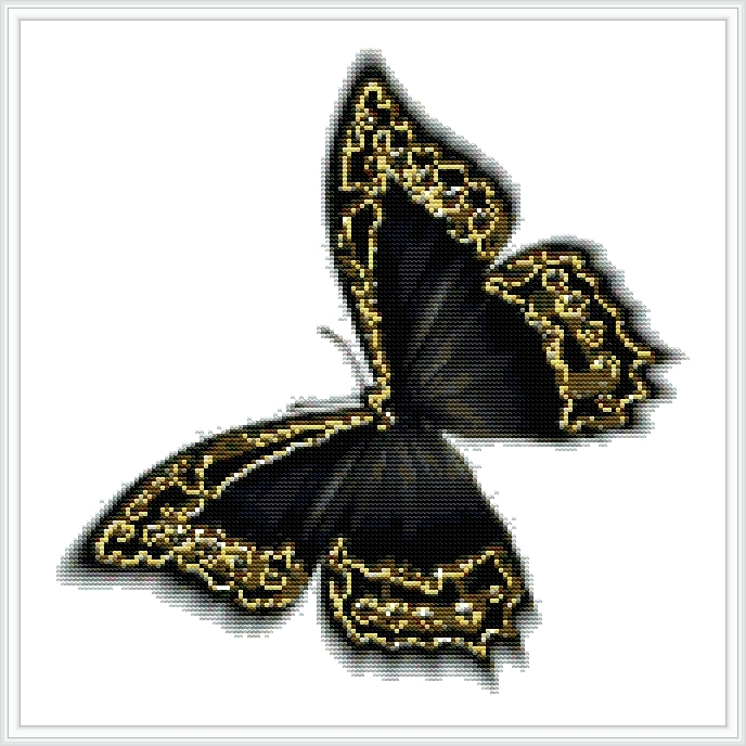 Бабочки вышитые крестиком.