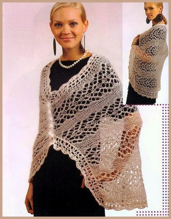 Схемы вязания ажурной вязки спицами