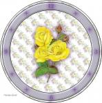 """Схема вышивки  """"Часы желтые розы """": оригинал."""