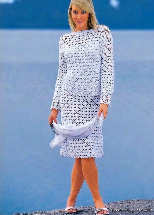 Вязание женских костюмов 21