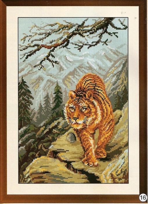 "Вышивка ""Тигр"""