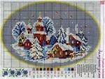Зимушка-Зима - Схема для вышивания крестиком.