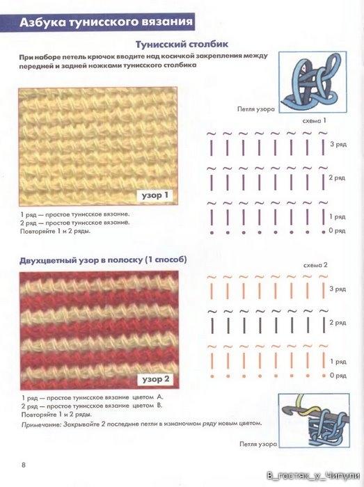 Книга: Тунисское вязание. Техника, узоры, модели. Т.П. Абизяева. 2832361_aa_0007
