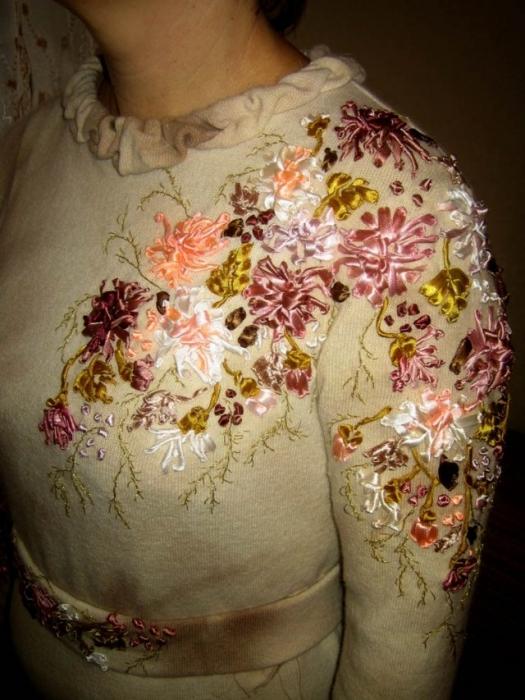 Цветы для украшения платья своими руками