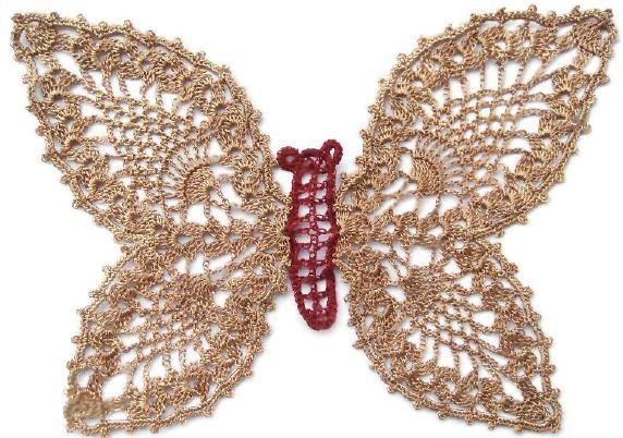 Предлагаем вам схемы цветов, бабочек, стрекоз, листьев для техники объемного вязания крючком. источник: Интернет.