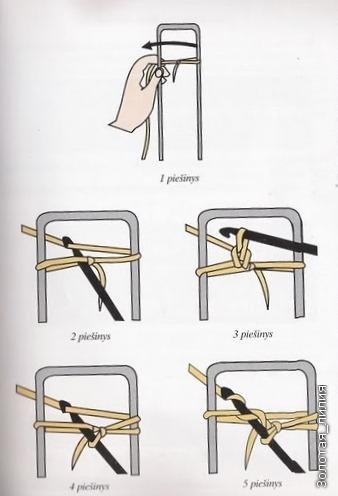 вязание на вилке.