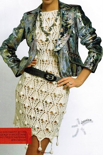 Выпускные платья вязанные крючком 50