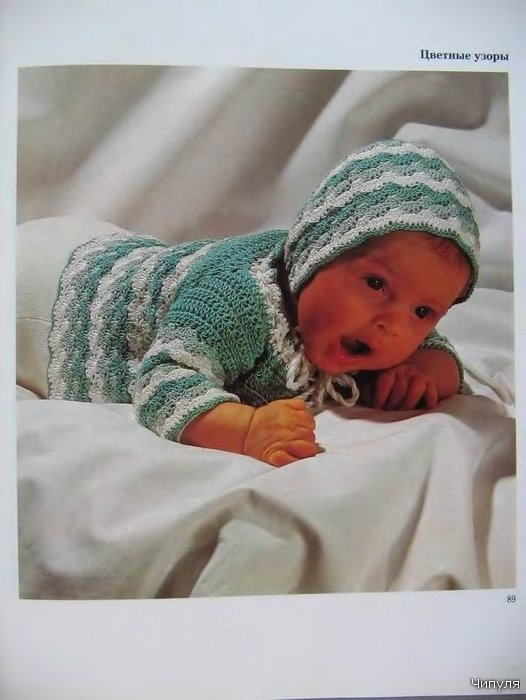 Вязание схема для новорожденных.