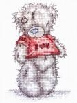 Вышитые картины, изделия из бисера и бусин, вязанные изделия, купить Teddy, I Love You, Я тебя люблю, ТТ14...