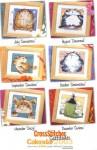Буклет схем для вышивки крестом от Маргарет Шерри с коллекцией кошек.  Calendar Cats 2003 (Схемы для вышивки крестом) .
