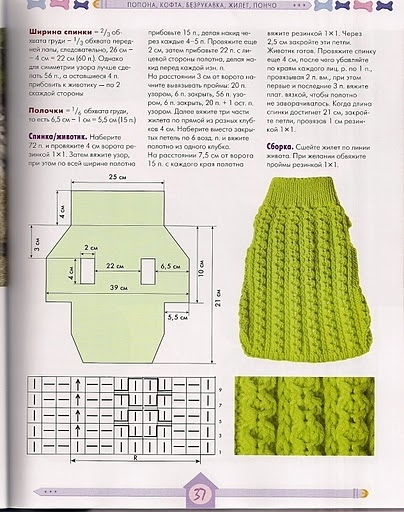 Как связать свитер для собаки своими руками спицами