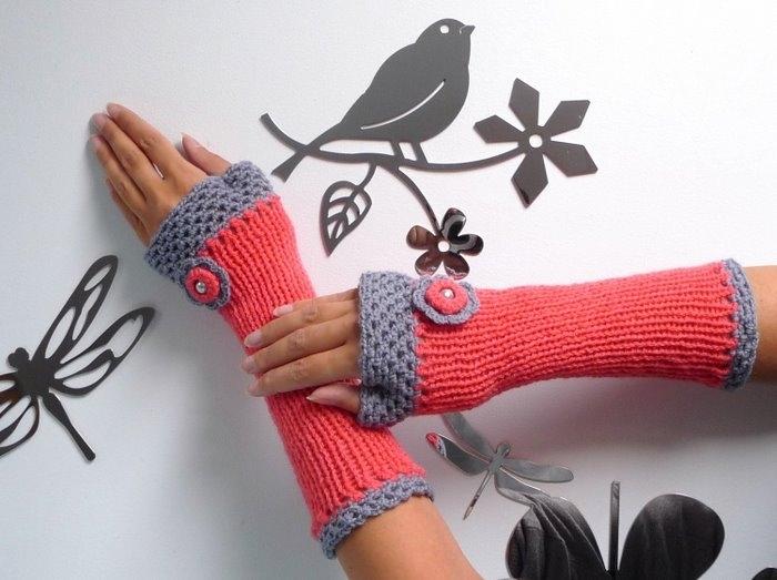 Перчатки трикотажные своими руками 157