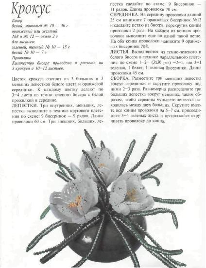 Цветы из бисера Федотова, Валюх.