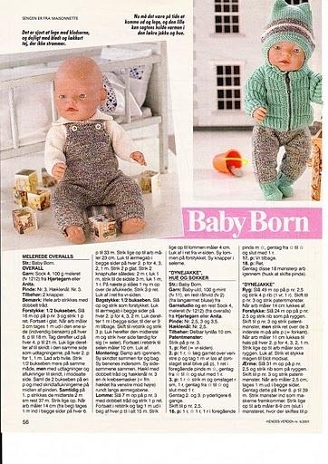 Вязание для кукол спицами с описанием беби бон 4