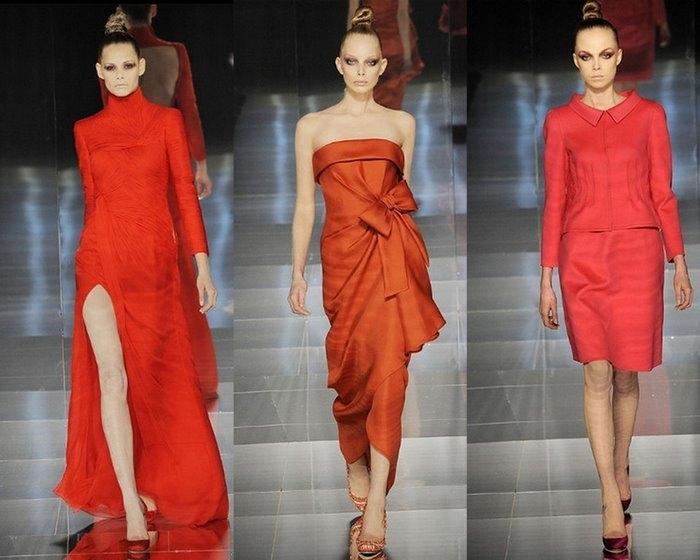 Валентино красное платье 77
