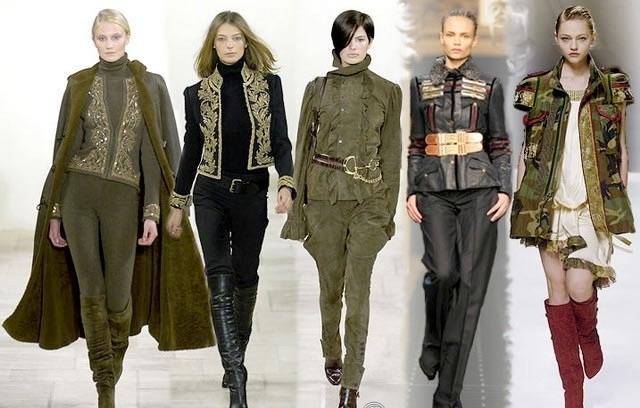 Мода 2011 милитари.