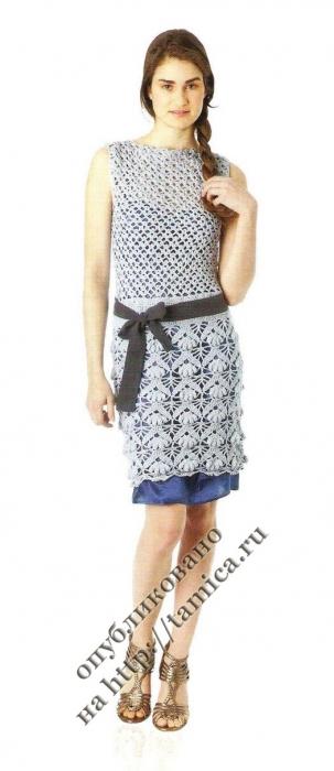 Молодежное платье крючком